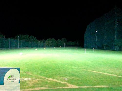 campo con iluminacion led
